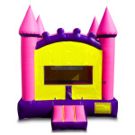 Pink and purple jumper castle