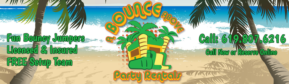 a bounce above party for san diego bounce house rentals