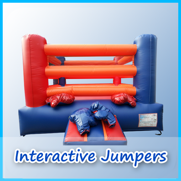 Interactive jumper page from A Bounce Above Party.
