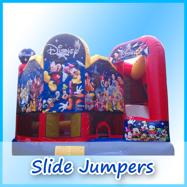 slide jumpers page from A Bounce Above Party.