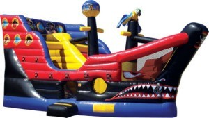 Interactive Pirate Bounce House